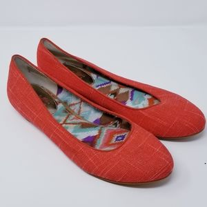 Seychelles Red Weekenders Textured Flats (Size 9)